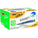 BIC tahvli marker VELL 1701, 1-5 mm, green, Pouch 12 pcs 701023